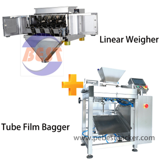 4 head Lane Scale Bagging solution For Small plastic, rubber parts