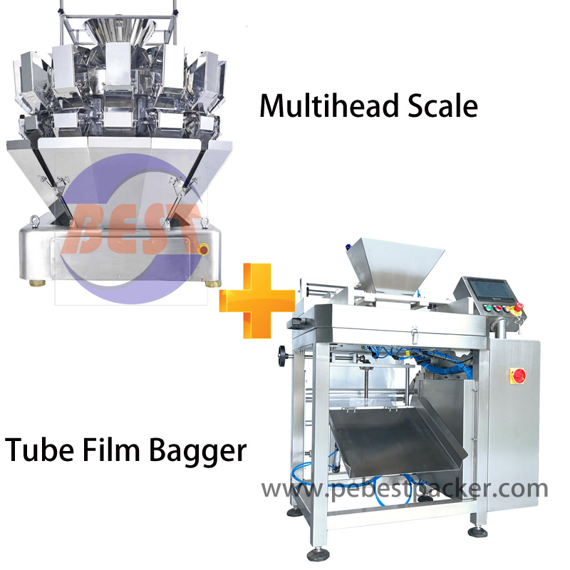 Dry Grains Rice/ Sugar Packing system with PE tube film reel