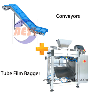 Frozen foods Semi-automatic Packing system with conveyor