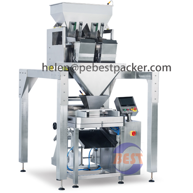 8Liter 2head Lane weigher Sliced fruits Automatic packing machine