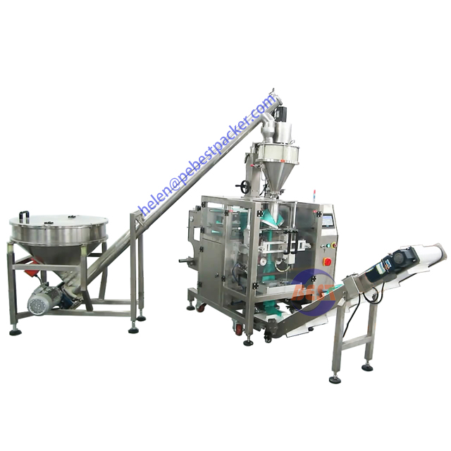 Automatic coffee Detergent powder Auger filling packing machine